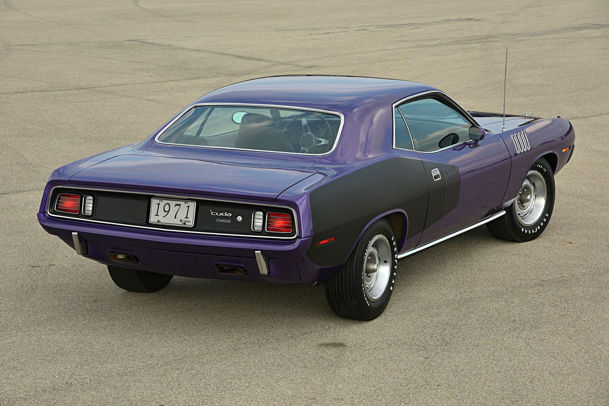 Check out this feature on 4 muscle cars: 1971 Plymouth Hemi 'Cuda, 1971 Pontiac…