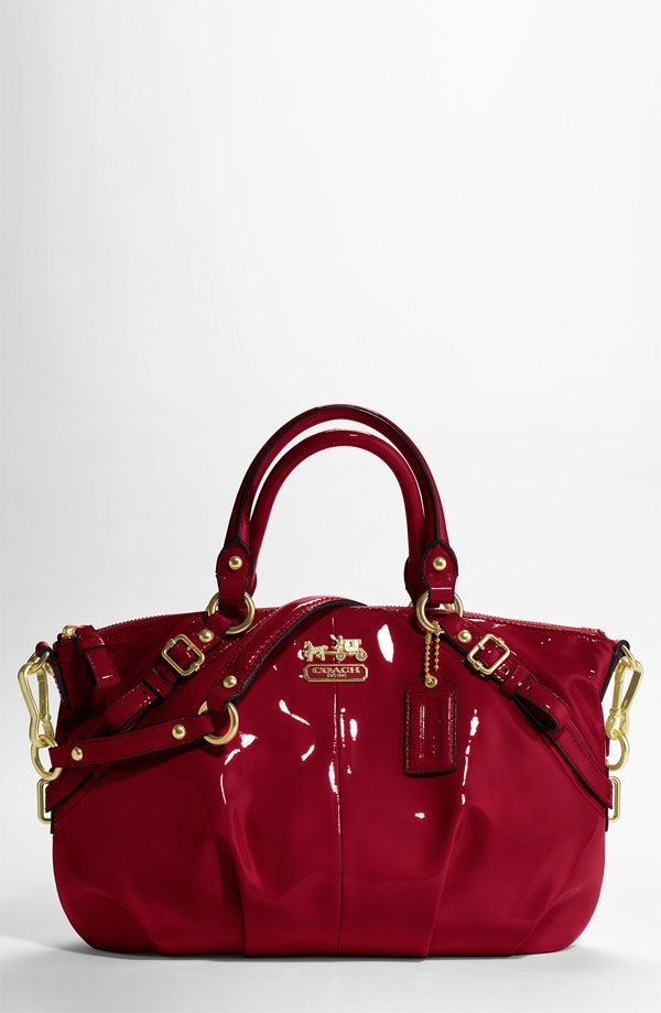 9390055eedb9 I have craved this for 6 months now. The Coach Madison bag in red patent  leather.