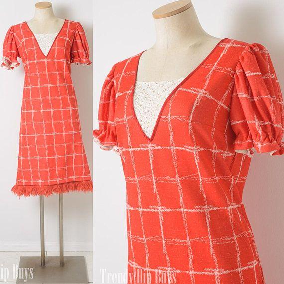 Vintage Dress mod 60s dress Baby Doll Dress Mad Men Dress