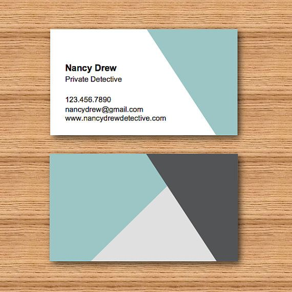Angular Triangle Business Card Template