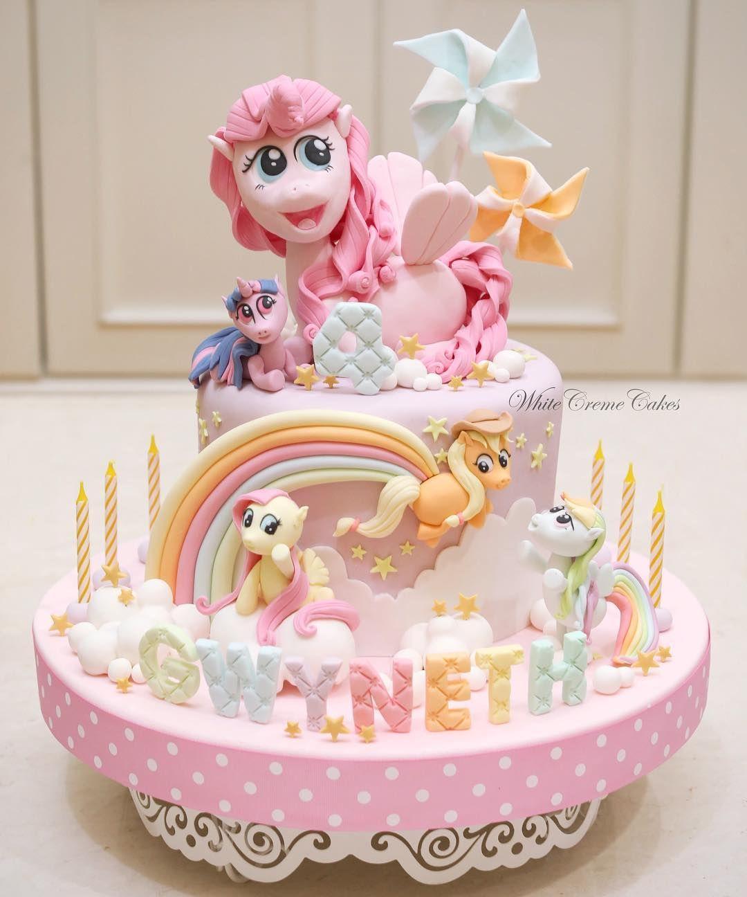Kue Ultah Kuda Poni : ultah, Little, Gwyneth🦄, #mylittleponycake, #customize, #handmade, #3dcake, #icing, #fondant, #cake, #cakes, Ulang, Tahun,