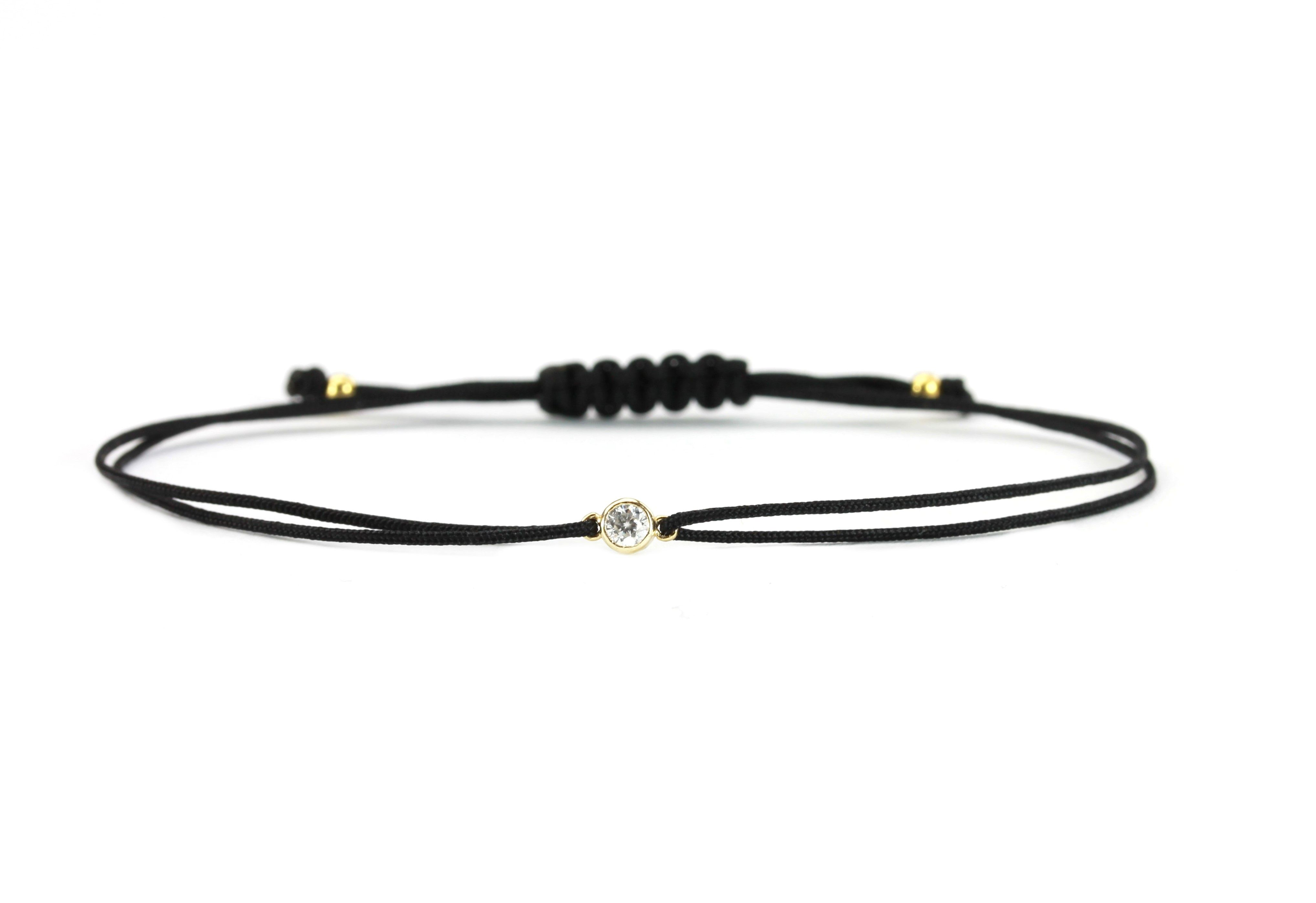 Einkaufen kostenloser Versand am beliebtesten Damen Freundschaft Textil-Armband Zirkonia 925 Silber ...