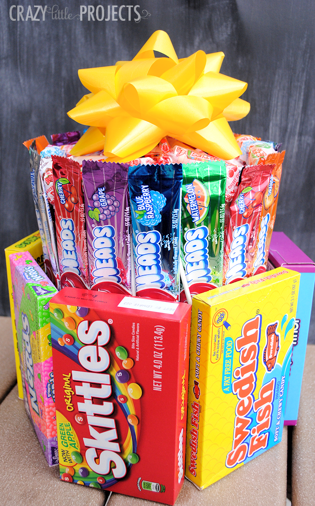 How To Make A Candy Birthday Cake Omg This Is So Easy Fun And Creative I Cant Believe Didnt Think Of That