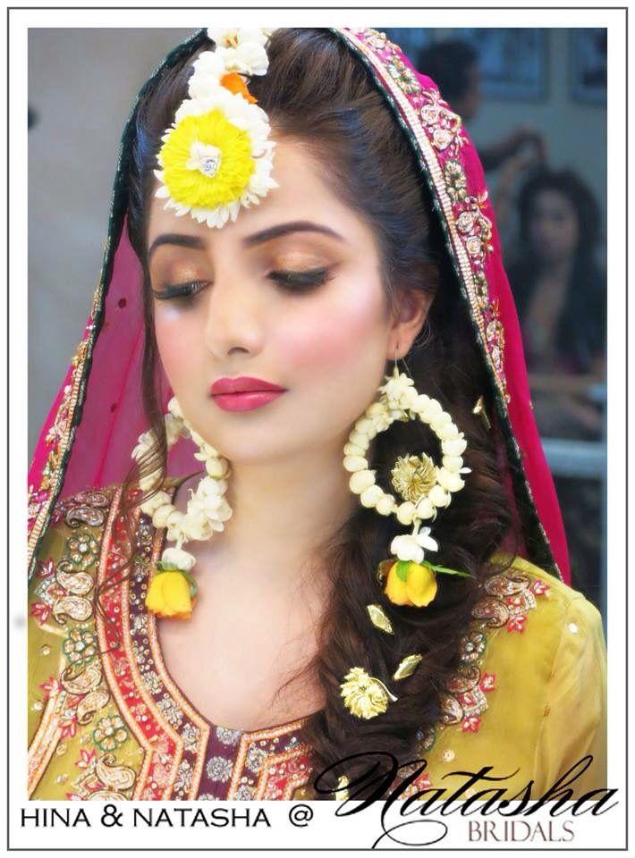 Mehndi Hairstyles With Jhumar : Makeup by natasha bridal party pinterest