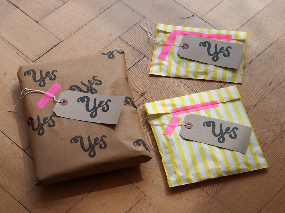 Super cute wrapping for anniversary presents! Creative