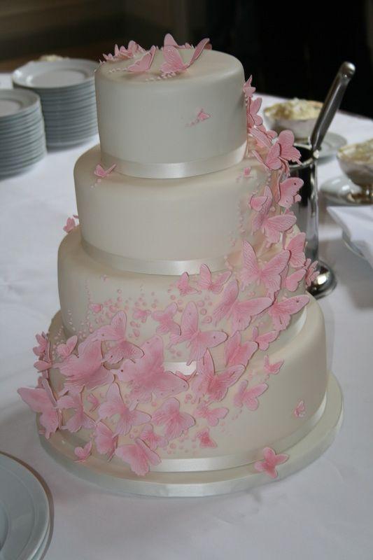 Schmetterlings Hochzeitstorte wwwthetinycakeboutiquecom