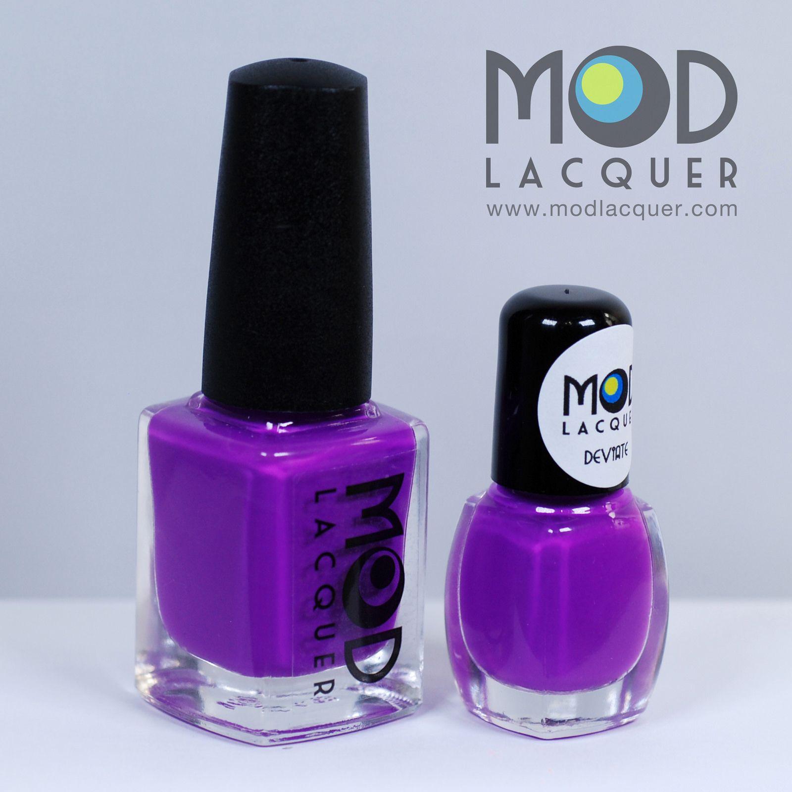 Deviate Neon purple Nail Polish - Electrified Collection www ...