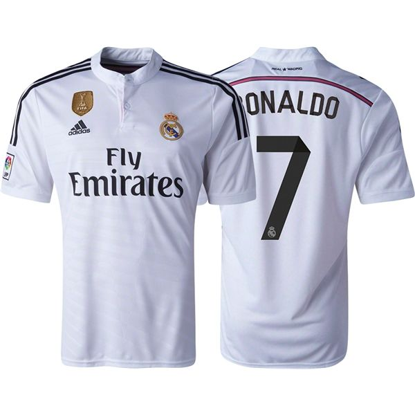 a8c3687cbf Men s 2014 15 Real Madrid FIFA Club World Cup Ronaldo 7 Home Soccer Jersey