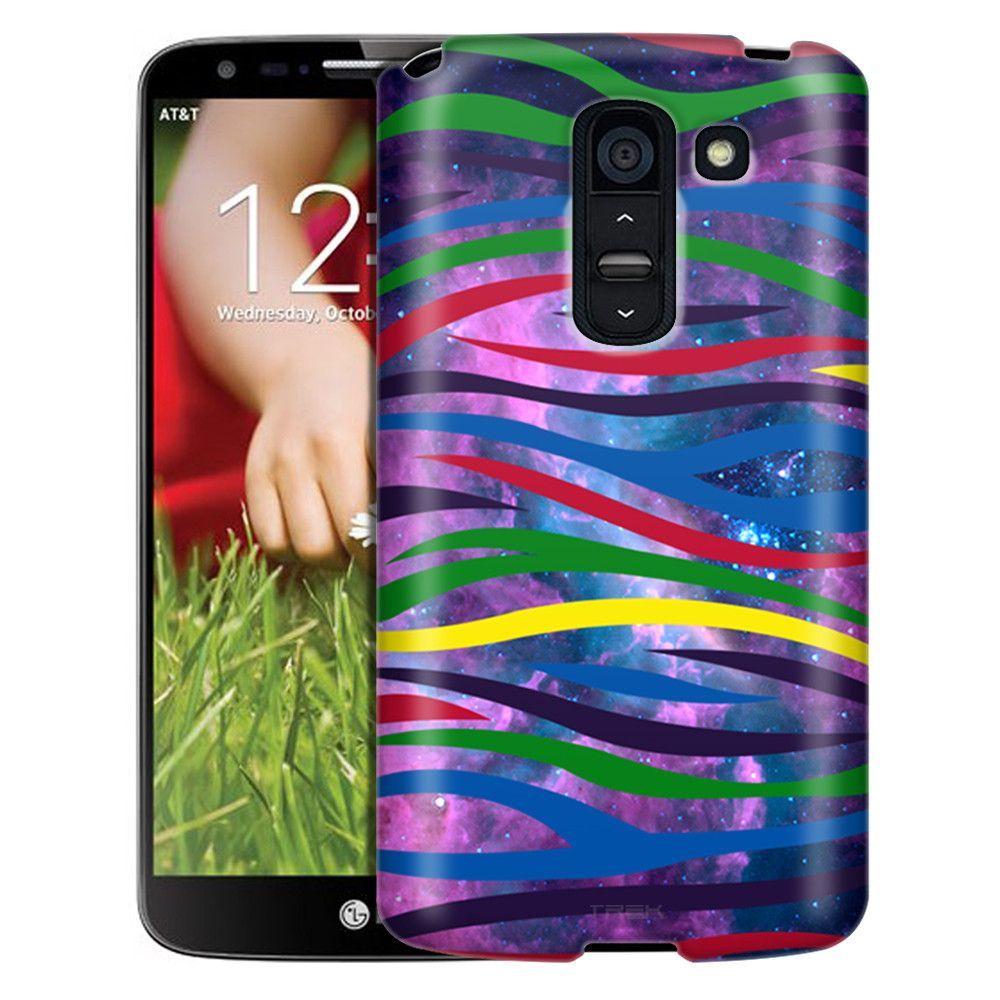 LG G2 Slim Case Colorful Zebra on Nebula Slim Case