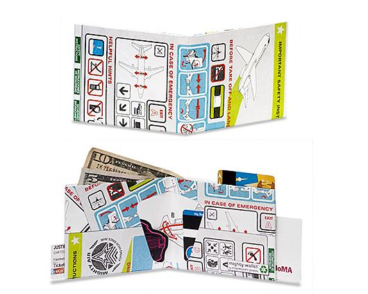 In Flight Mighty Wallet  Aircraft Safety Card Design