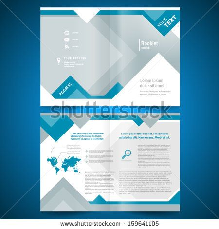 Booklet Template Design Catalog Brochure Folder Geometric Triangle