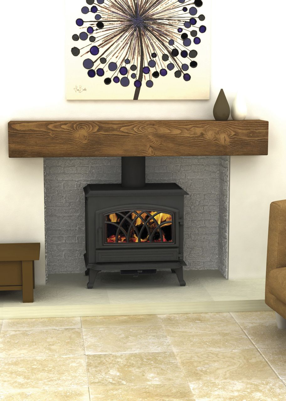 Delightful Wood Burning Fireplace Design Ideas Part - 3: This Is Nice And Simple With A Level Hearth