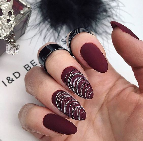 Matte Nails For Fall Simple Matte Nails Chic Nail Designs Easy Designs For Short Nails Winter Matte Nails Black Matte Nails Trendy Nails Nails Fashion Nails