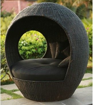 Melon Outdoor Wicker Pod Chair Chairs Chicago Home Infatuation
