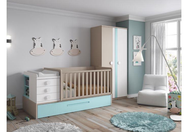 Cuna Convertible en Cama | Baby room | Pinterest | Cuna convertible ...