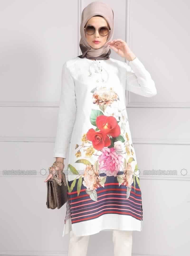 tunique longue pour femme voil e 12 hijab fashion pinterest fashion. Black Bedroom Furniture Sets. Home Design Ideas