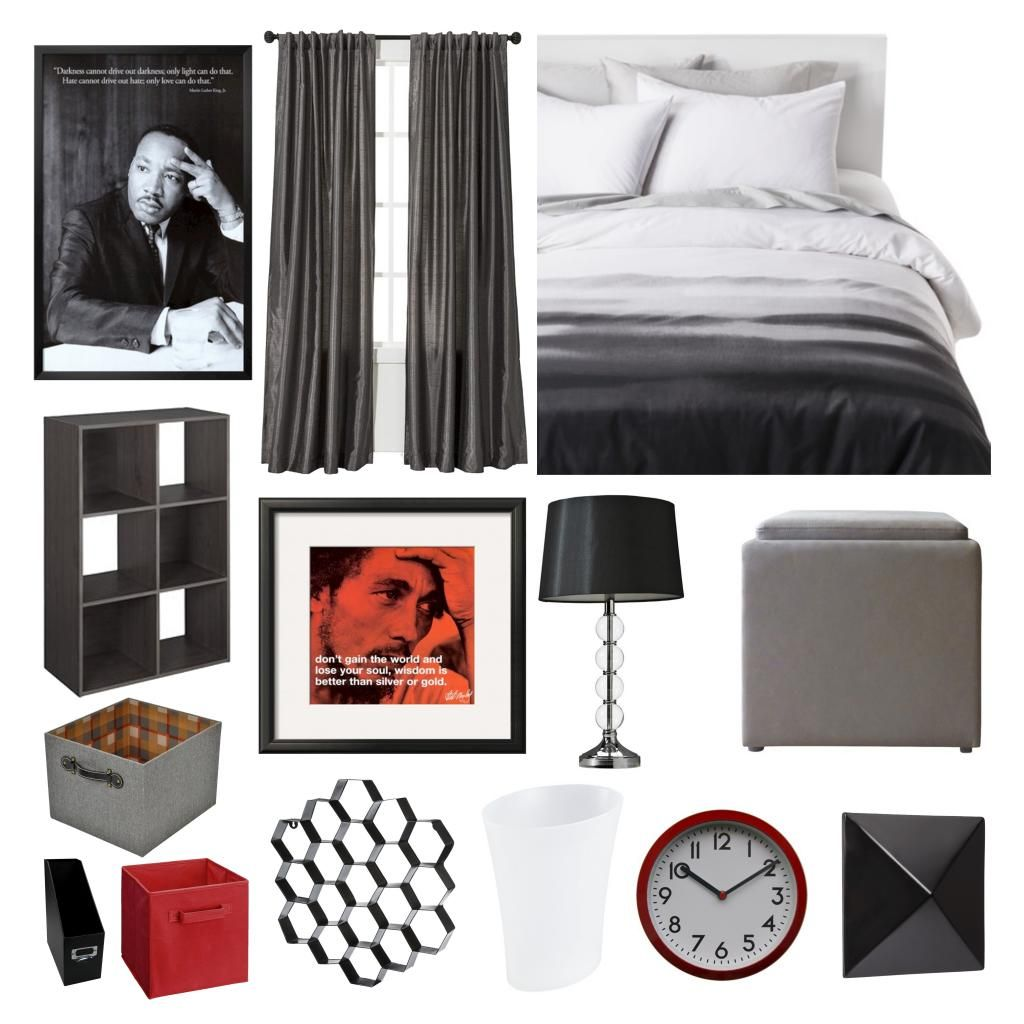 Modern Bedroom. Perfect for a dorm room or college male