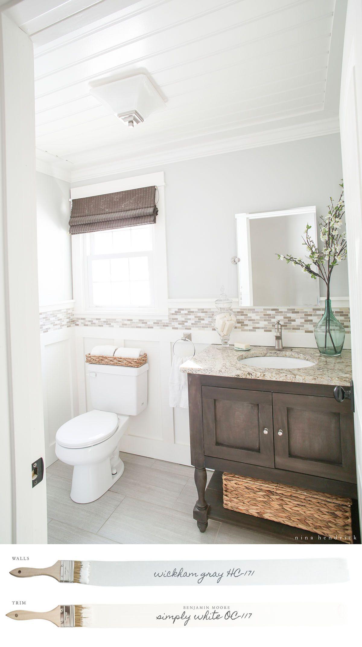 New England Neutral Paint Color Scheme Beadboard Bathroom Bathrooms Remodel Room Makeover