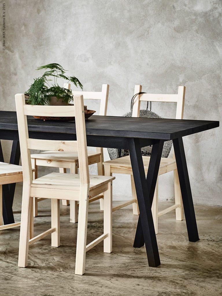 Grebbestad underrede och ryggestad bordsskiva av massiv for Table ikea blanche