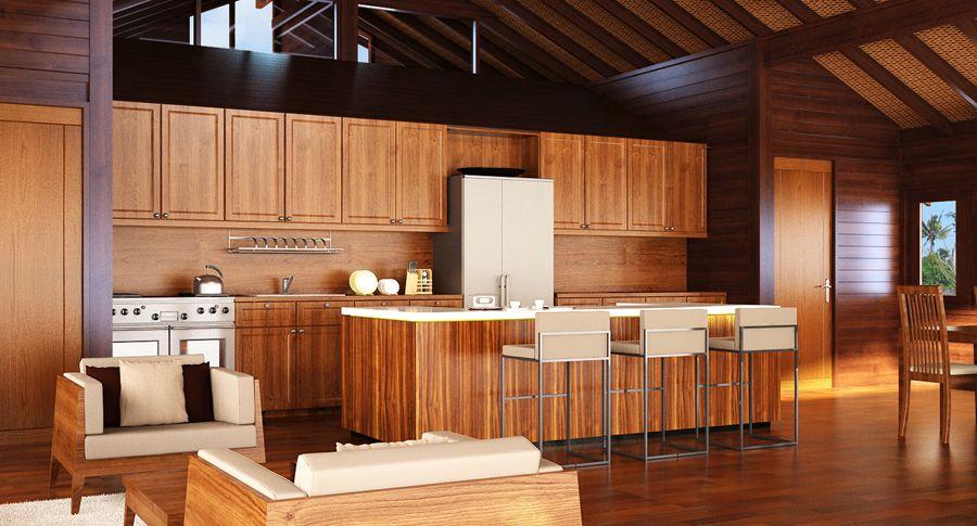 Teak Kitchens Cabinets   Interior design news