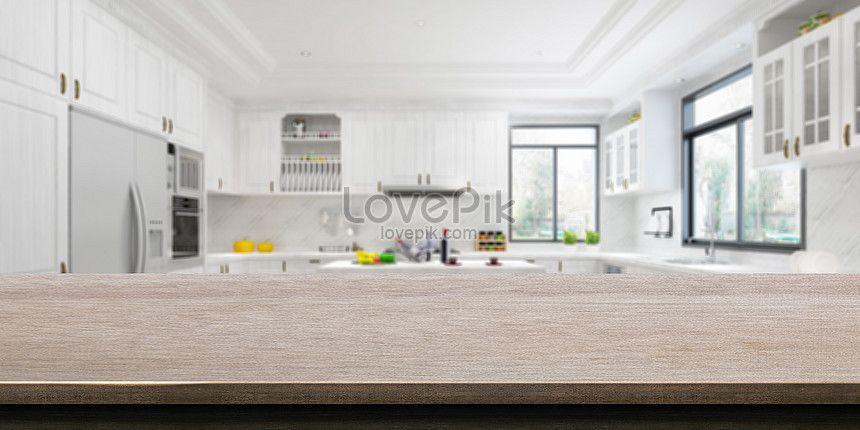 부엌의 배경 부엌 테이블 나무 테이블 부엌 배경 부엌 탁자 배경 밝은 부엌 음식 포스터 배경 나무 테이블 부엌 배경