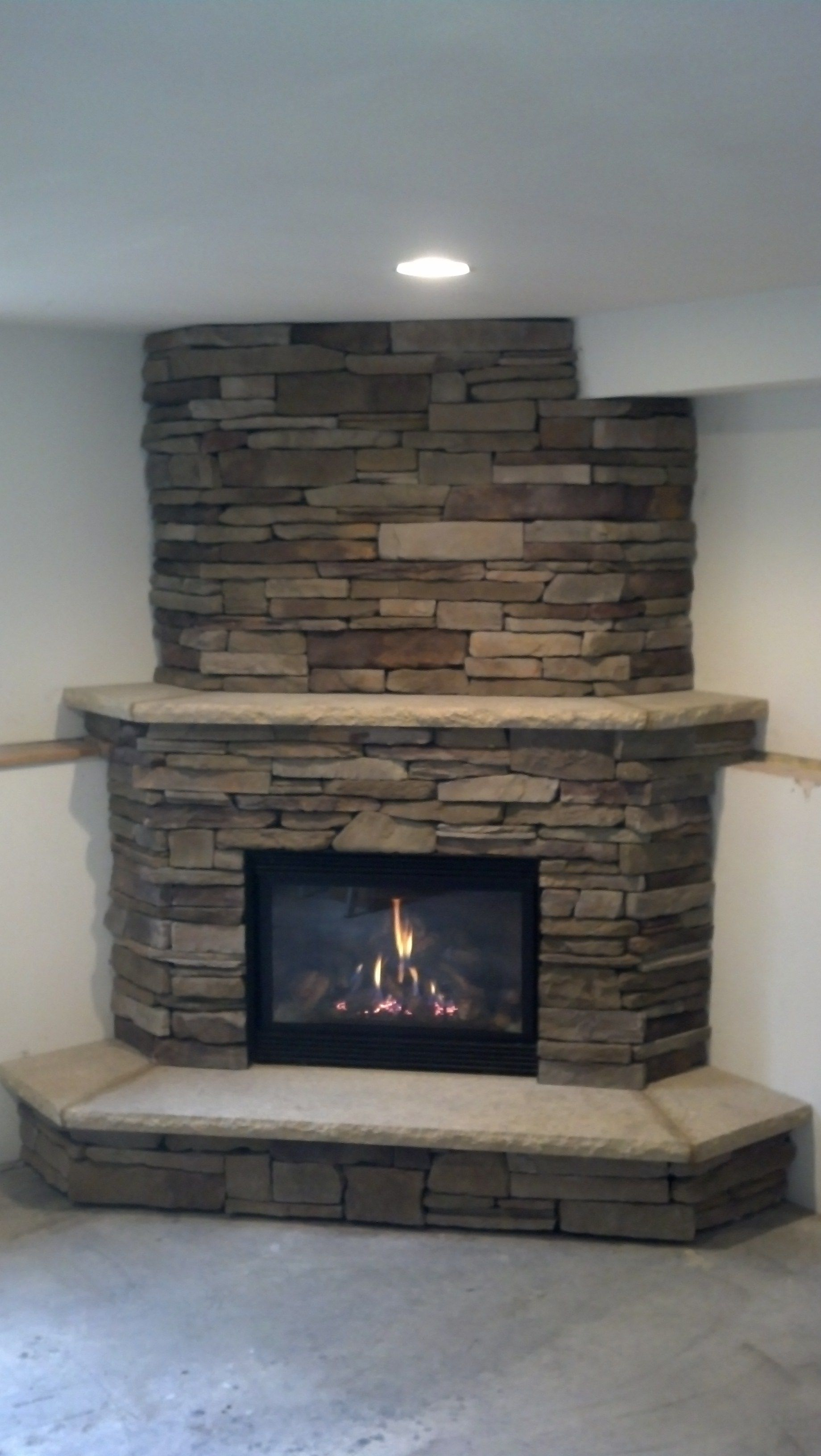 Great American Fireplace Installed This Corner Gas Fireplace With