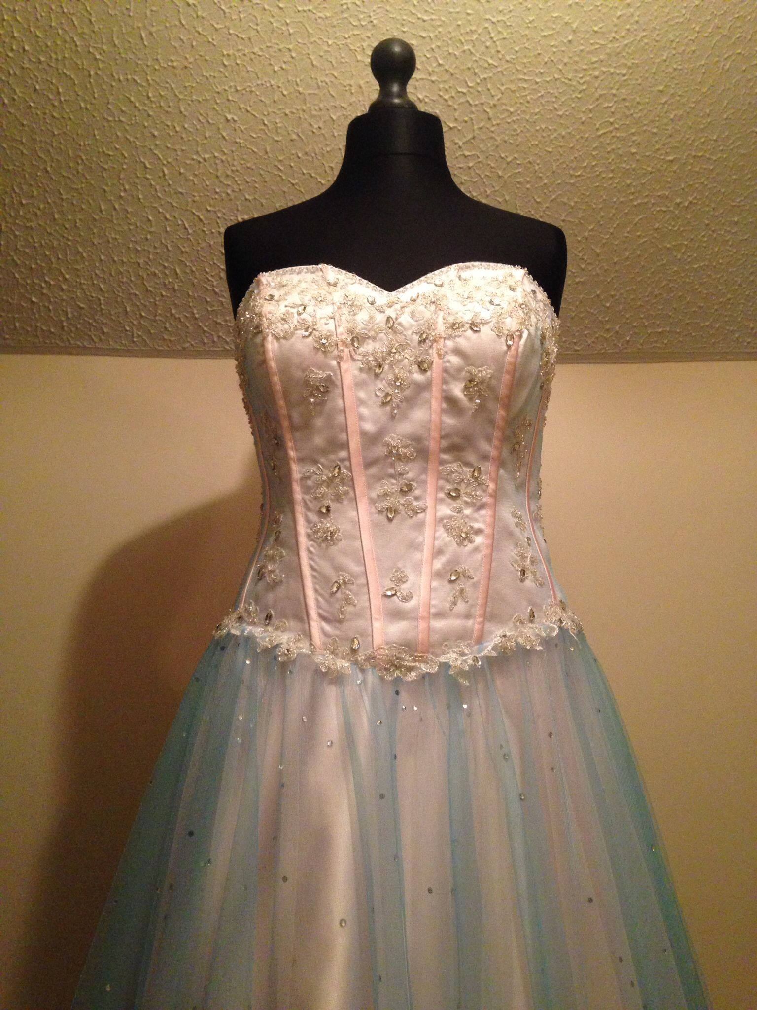 Prom dress with beading and sparkles