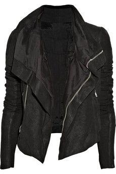 Rick Owens textured-leather jacket
