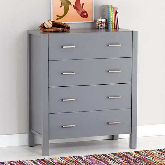 699 Uptown 4 Drawer Dresser Grey The Land Of Nod This Is