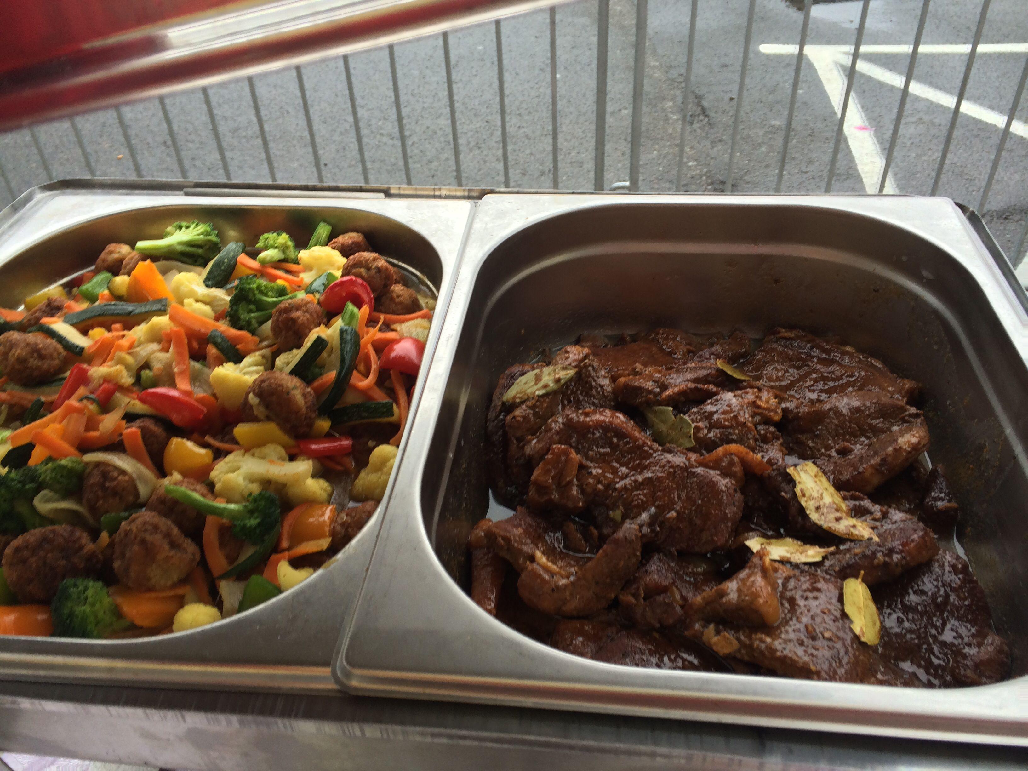 Ginisang Gulat and pork Adobo