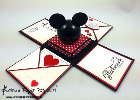jpp  Mickey Mouse Explosionsbox  exploding box  Wedding