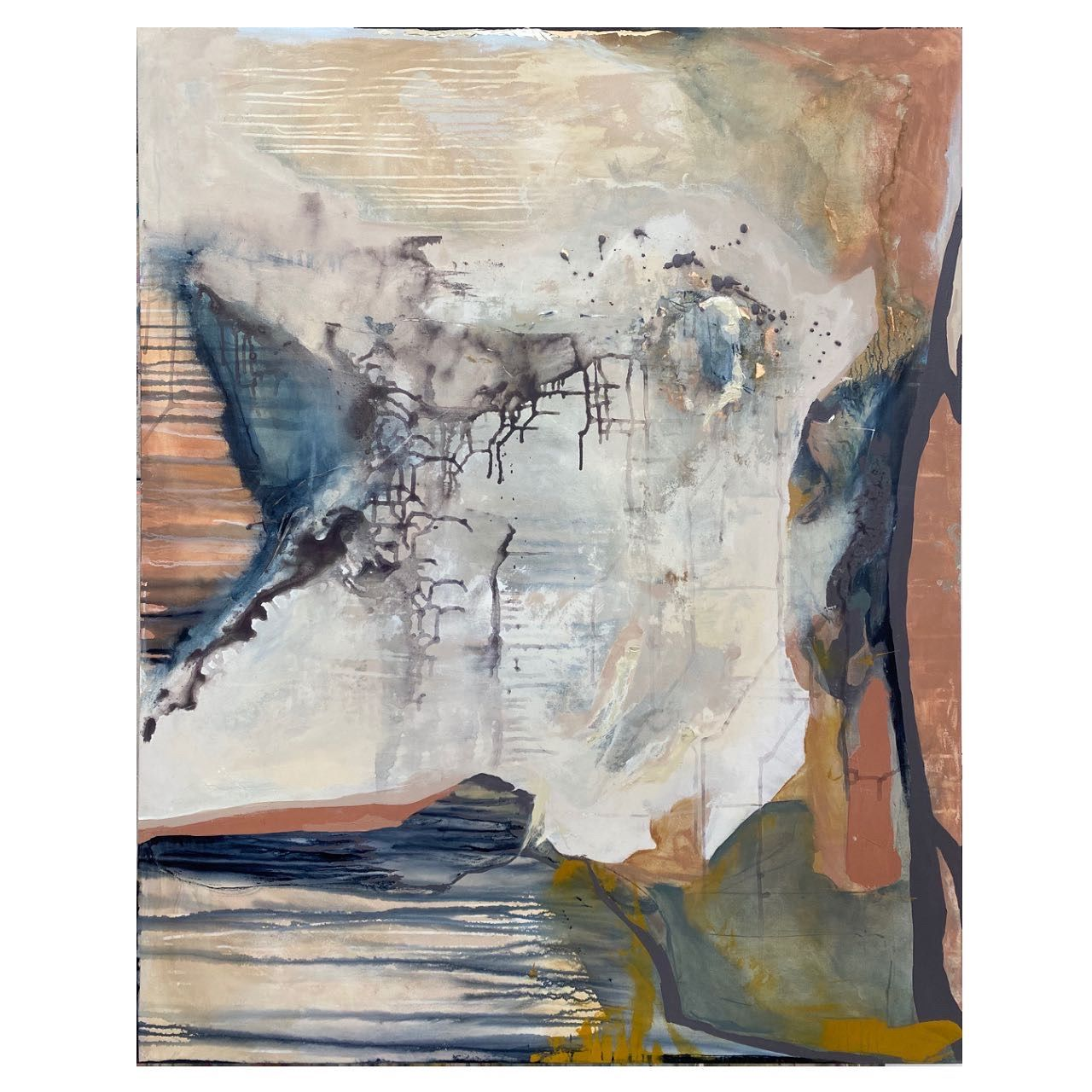 4ft x 5ft acrylic on canvas #abstractart #meribethprivettart #abstractartists