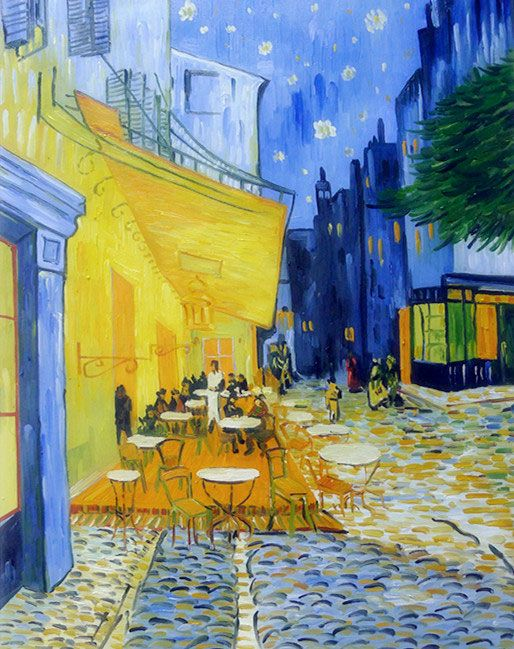 Oil Painting Reproduction Vincent Van Gogh Cafe Terrace At Night Artisoo Com Night Painting Painting Van Gogh