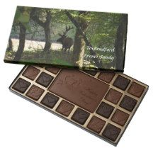 Elk Camouflage in the woods love Chocolate 45 Piece Box Of Chocolates