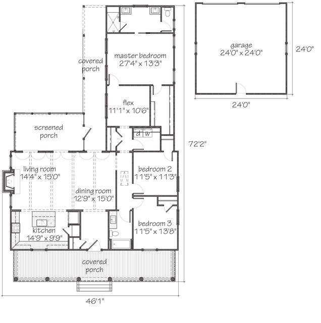 York - | Southern Living House Plans - like the floor plan. dislike ...