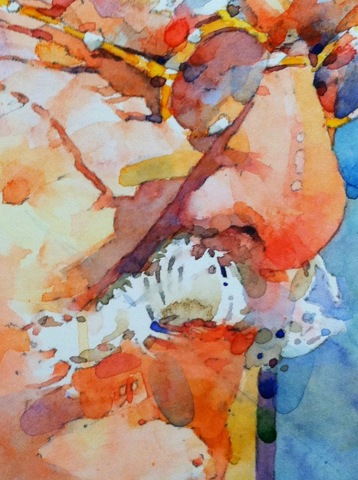 Ted Nuttall Figurative Watercolour Painter Figure Painting