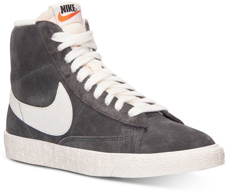 nike womens blazer mid suede vintage casual sneakers from finish line