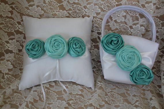 White or Cream Ring Bearer Pillow/Flower Girl by CustomRingChests
