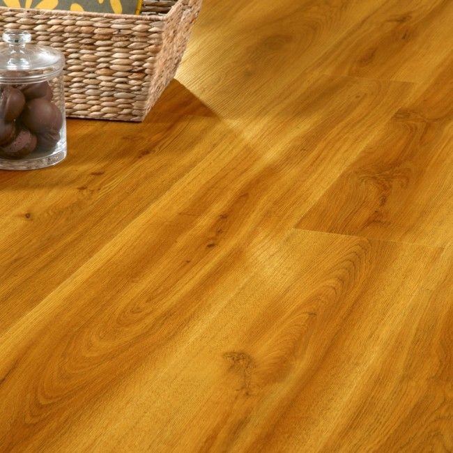 Country Oak 24837 Waterproof Floor Panel (4.5mm x 191mm x 1.3m x 7 | Clever Click)  Wood effect flooring ideal for waterproof flooring in bathrooms and kitchens.