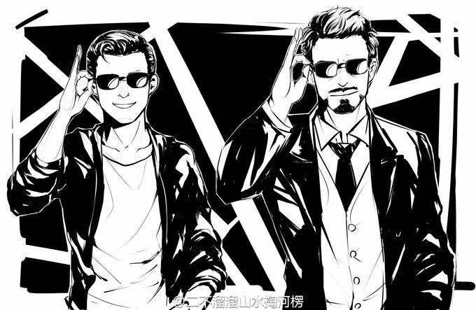 Tony Stark and Peter Parker-nowdo tumblr com | marvel art