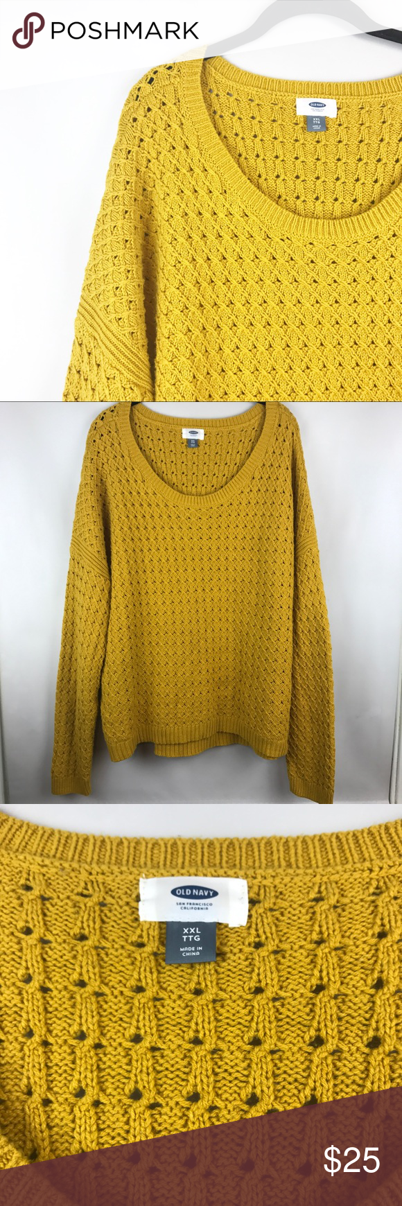 Old Navy Mustard Cable Knit Sweater | Cable knit sweaters, Cable ...