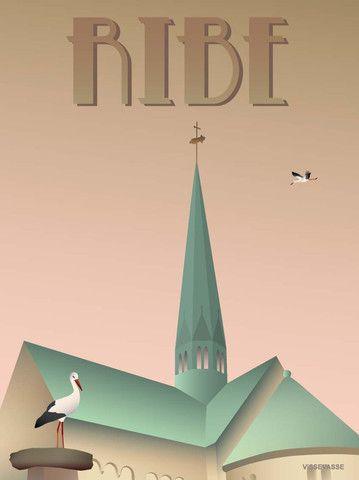 Ribe Plakat Storkene Fra Vissevasse Kob Den Her Plakater Rejseplakater Og Poster Ideer