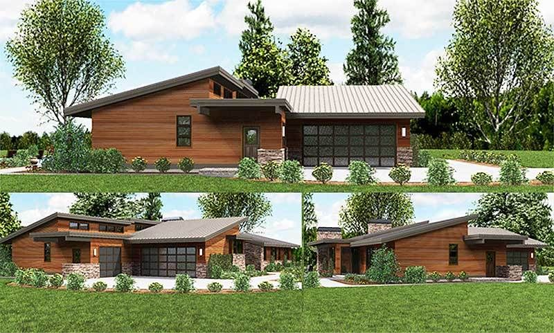 Plan 69510am Stunning Contemporary Ranch Home Plan Ranch House Plans Ranch House House Plans