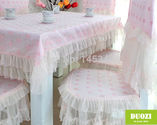 Factory Direct Sales Home Textile Product Lace Table Cover Embroidery  Flower Tablecloth High Quality Christmas Table