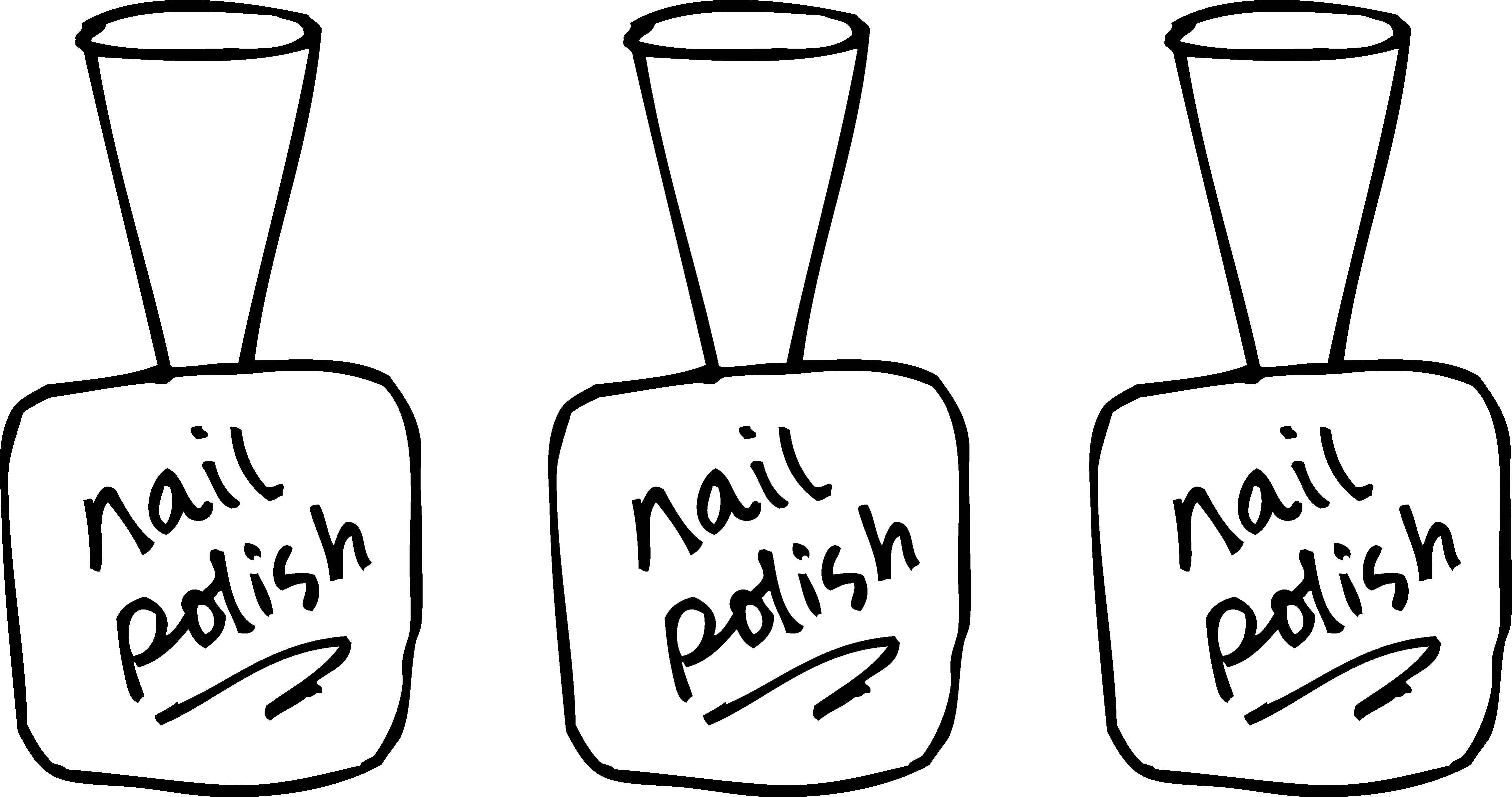 Images for nail salon clipart black and white morgan for Nail salon coloring pages