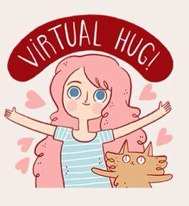 Virtual hug | Наклейки