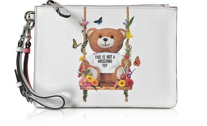 Teddy Bear Eco Leather Clutch - Moschino