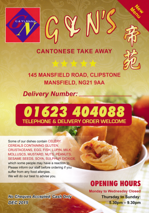 Pin On Mansfield Chinese Takeaway Menus