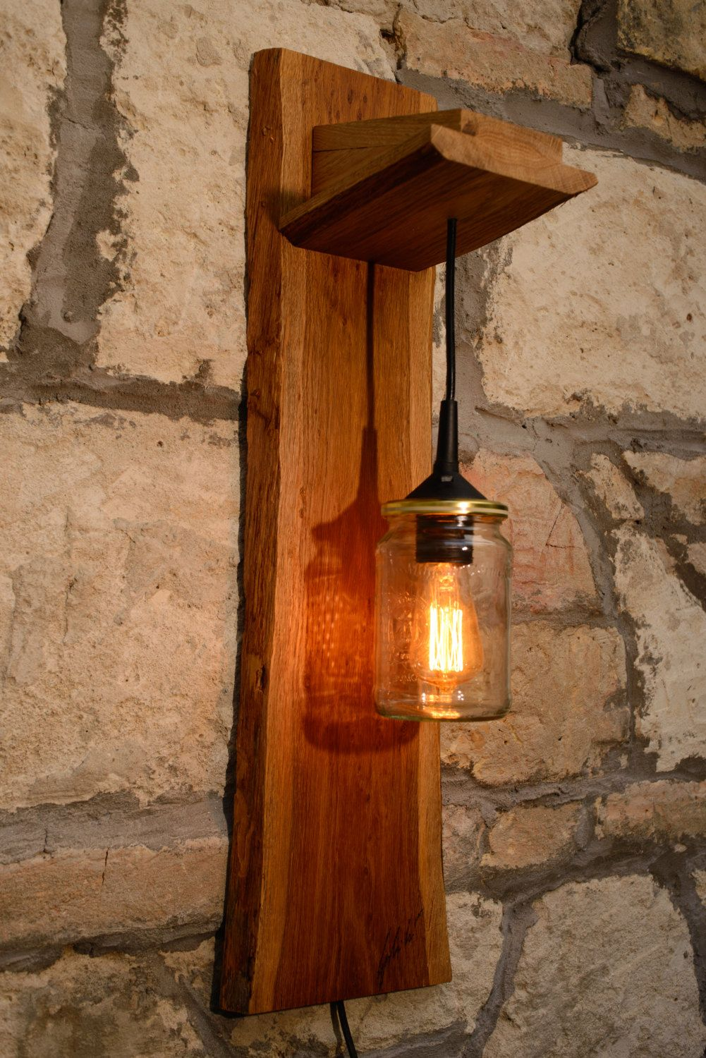 Wall lamp by HolzDinge on Etsy