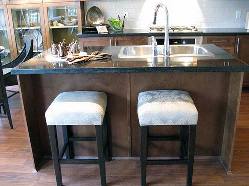 Kitchen island with sink and stools home pinterest Kitchen island with sink and seating